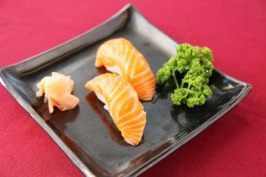 Sushi salmón receta