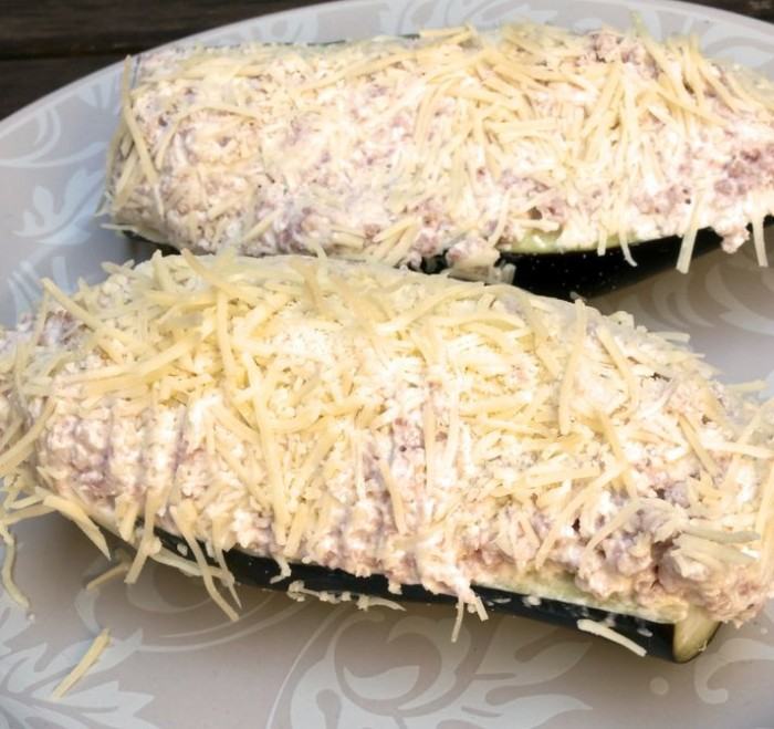 Receta Dukan Berenjenas gratinadas con jamón
