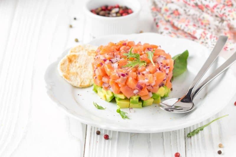 Receta de Tartar de salmón